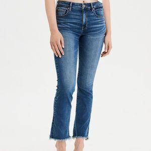 American Eagle Hi Rise Crop Flare Jeans